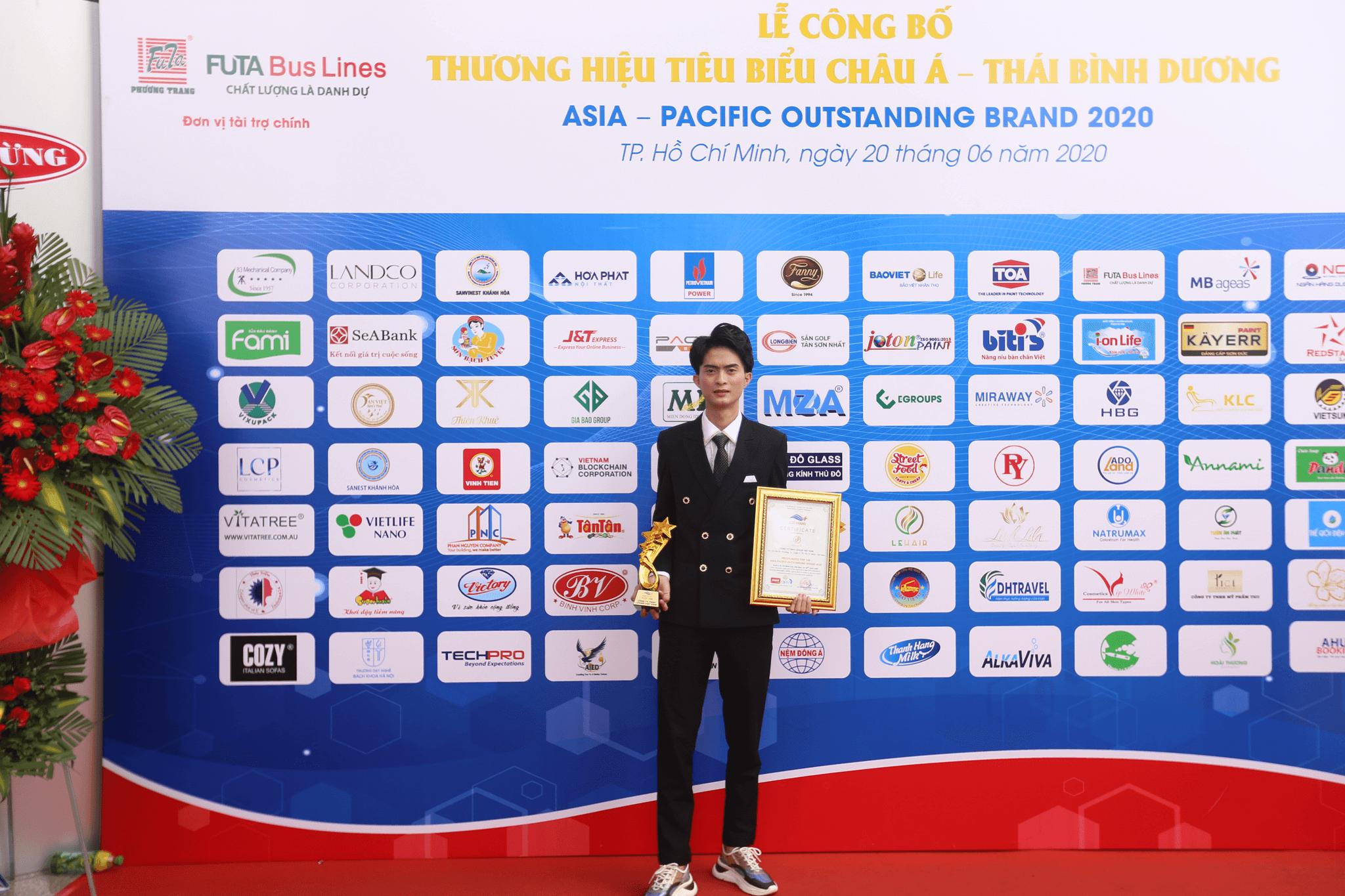 Giải thưởng Recognized Top 100 ASIA - PACIFIC OUTSTANDING BRAND 2020 (Top 100 Thương hiệu Châu Á)