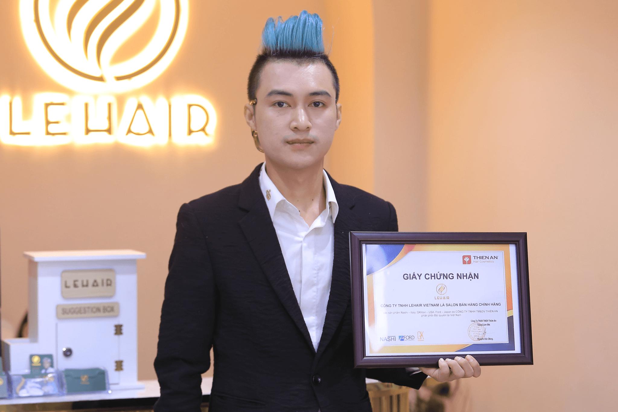 Chứng Nhận Công ty TNHH LeHair Vietnam là Salon bán hàng chính hãng