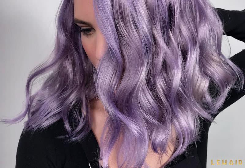 màu tóc tím khói hot 2020