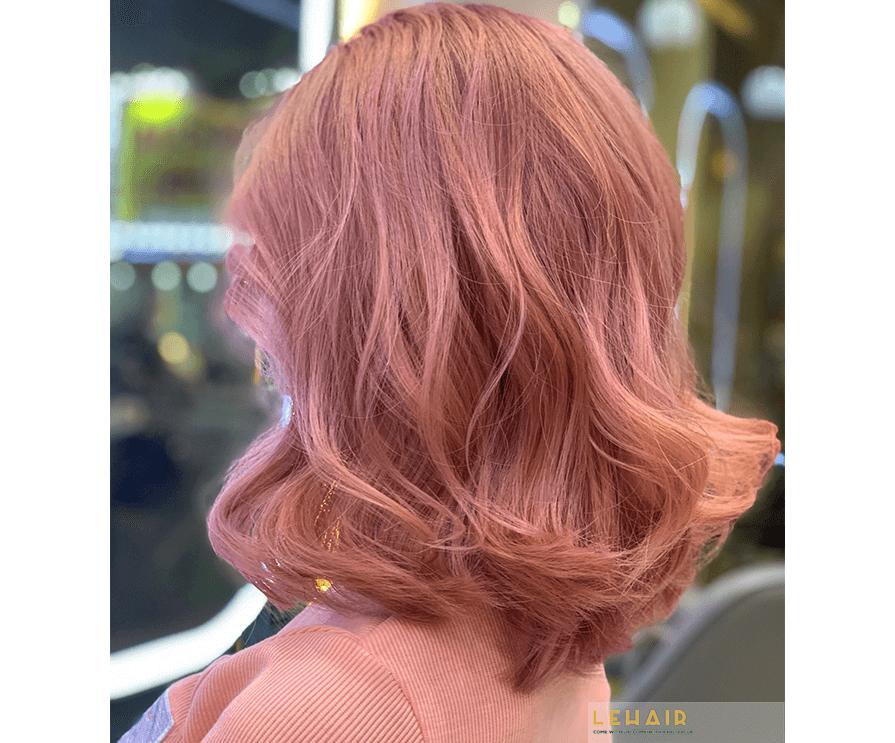 màu tóc hồng đào hot 2020