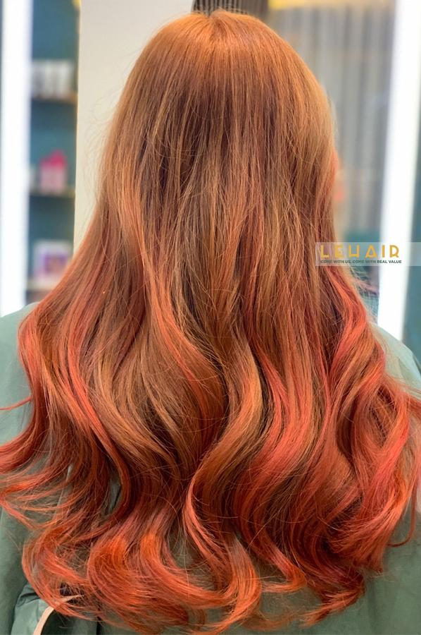 tóc nhuộm đẹp cho giáng sinh